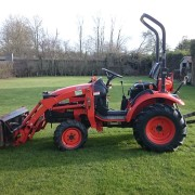 kioti compact tractor and loader for hire east yorkshire