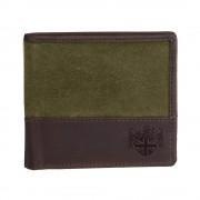 khaki waxed wallet