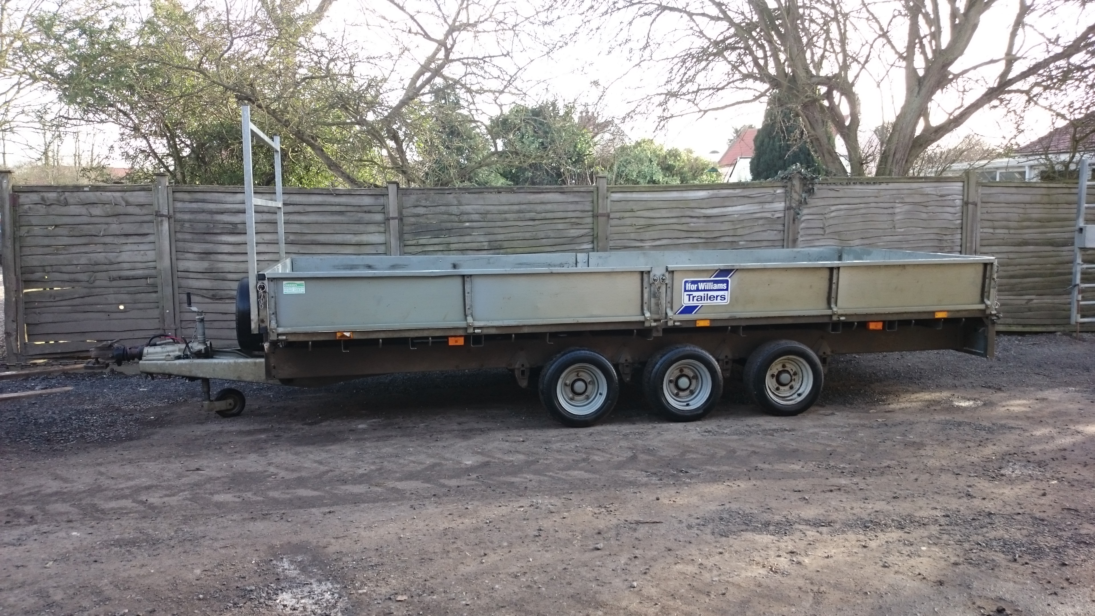 low maintenance front garden with 16ft Ifor Williams Trailer on Gallery also naturalswimmingpools additionally Metal Garden Storage 899 P also  in addition Upvc Doors.